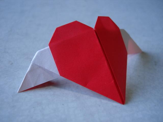 折り紙の 折り紙のハートの折り方 : kimamanamainiti.blog.shinobi.jp