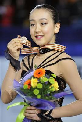 女子フリーで1位となり、総合3位に順位を上げた浅田真央