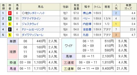 2013年中山金杯の結果