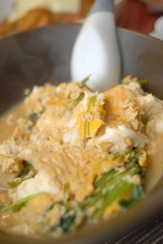 【Denner】カレーと豆腐の卵とじ(写真食堂)