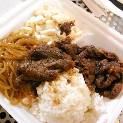 【Hawaii-Lunch】pearls HAWAIIAN BARBEQUEのプレートランチ(写真食堂)