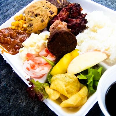 【Hawaii-Lunch】天国の海ツアーのBBQランチ(写真食堂)