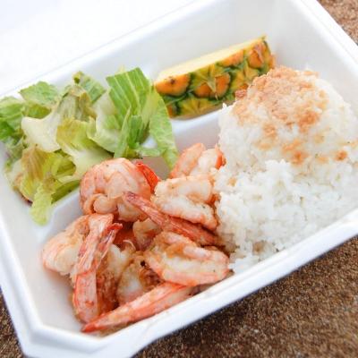【Hawaii-Denner】シュリンプ・プレートランチ(写真食堂)
