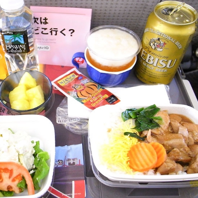 【Hawaii】ハワイから日本へのJALの機内食(写真食堂)