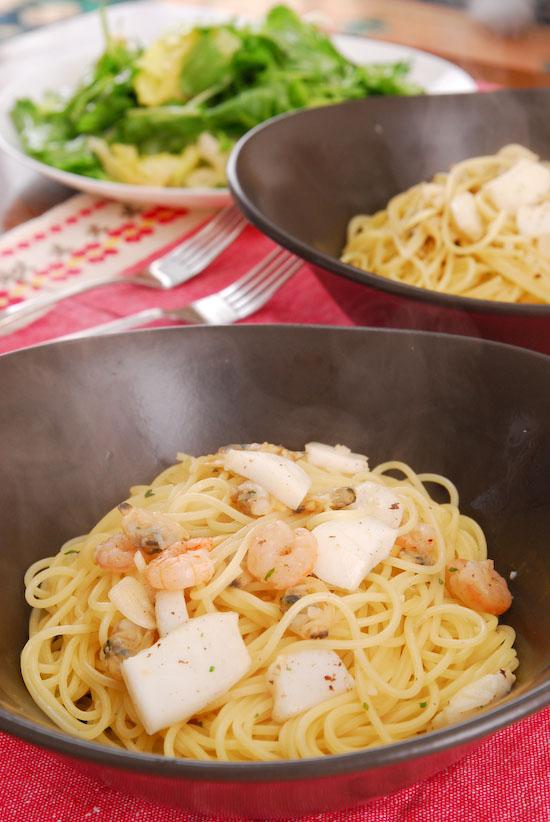 レシピ 冷凍海鮮deオッケー海鮮のスパゲティ(写真食堂)