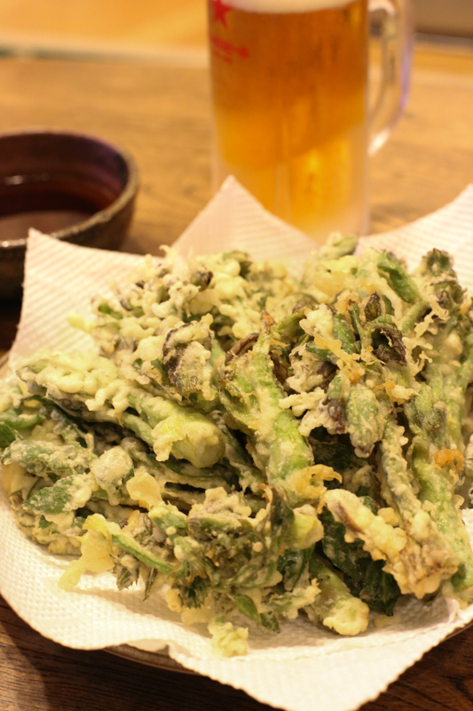 春の山菜 天ぷら(タラの芽)