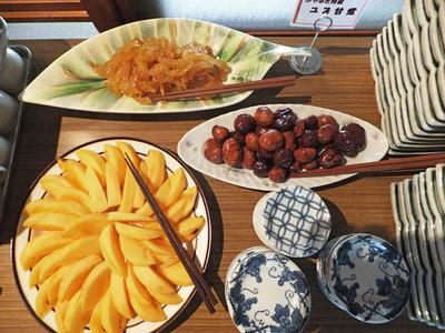 柚子甘煮 柿 栗の渋皮煮