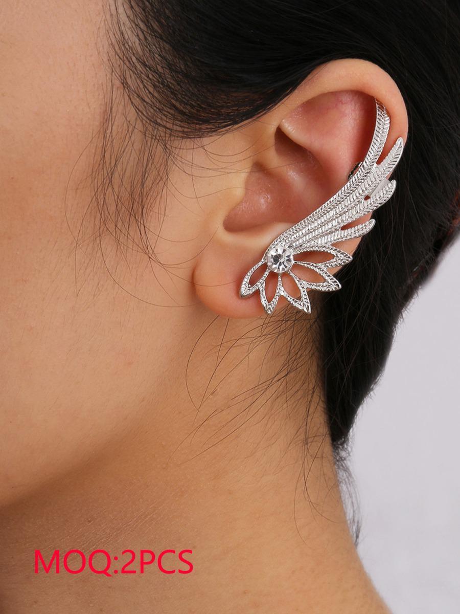 shestar wholesale crystal wing shaped women earrings
