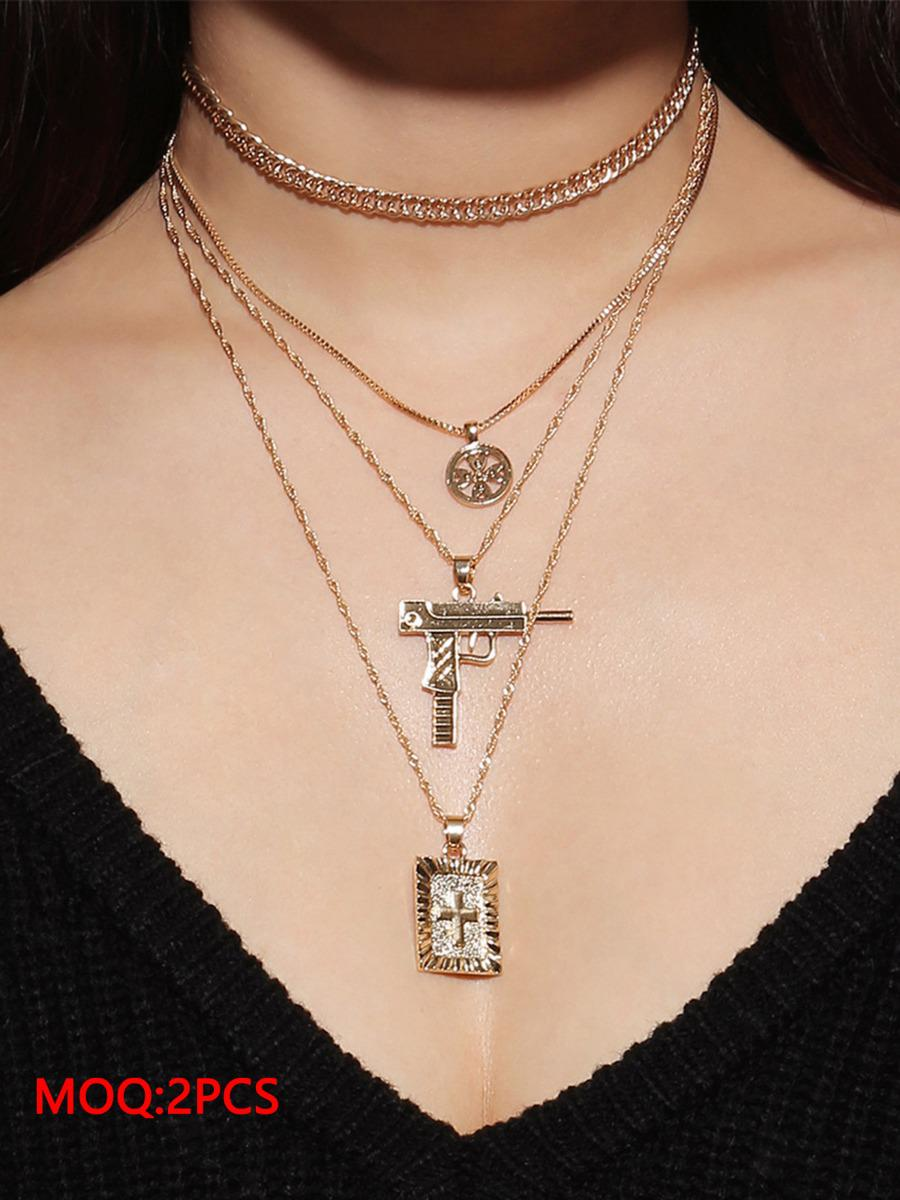 shestar wholesale cross multilayer clavicle necklace